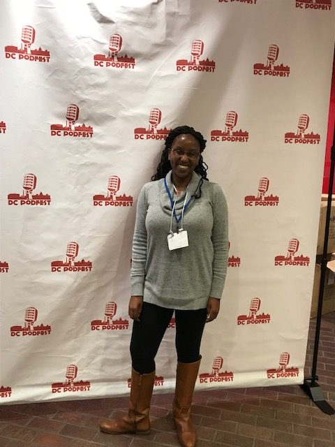 A picture of Patricia Q Jenkins (aka The Podcast Maven) at DC Podfest